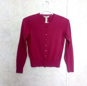 Banana Republic magenta button up cardigan